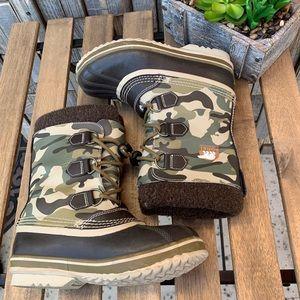 Sorel Camo YOOT PAC Nylon Print Boots Sz 4